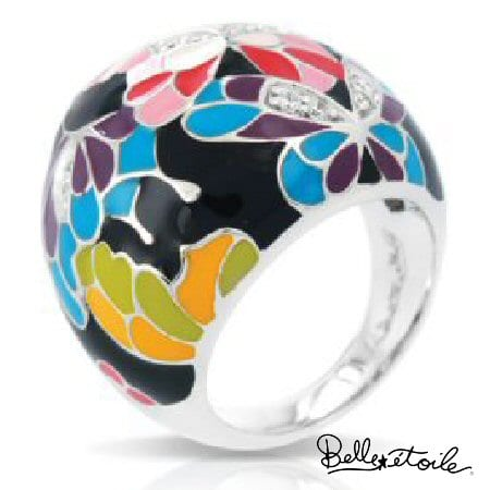 Butterfly Kisses Ring by Belle Etoile