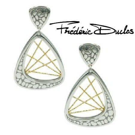 """Milky Way"" Sterling Silver Earrings by Fredric Duclos"