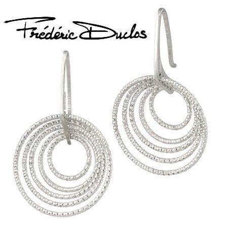silver 5 circle earrings