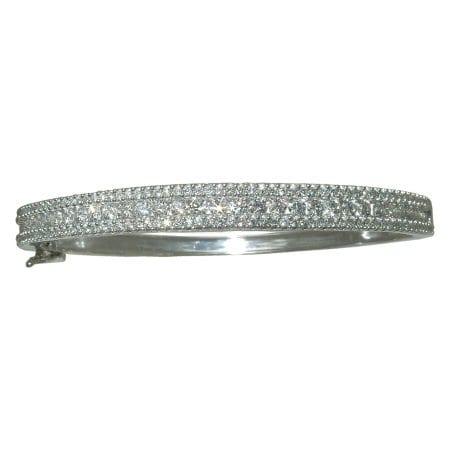 2.4 cttw. Diamond Bangle Bracelet in 14 karat white gold