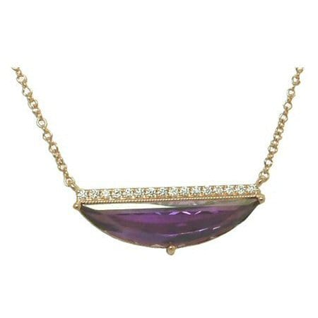 Amethyst and Diamond Necklace in 14 karat rose gold
