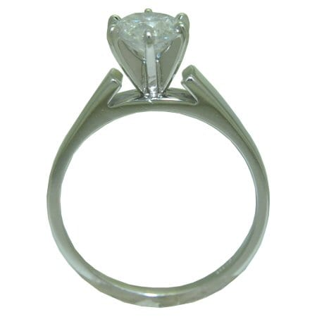 side view of solitaire ring