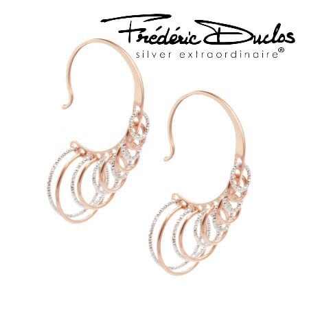 multi circle two tone earrings