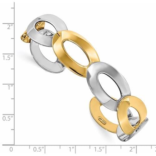 Oval cuff bracelet