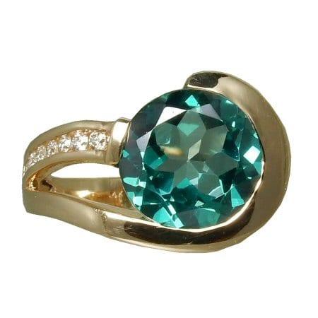 Blue Topaz Ring front