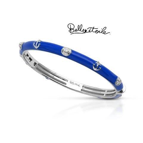 Blue enamel bangle