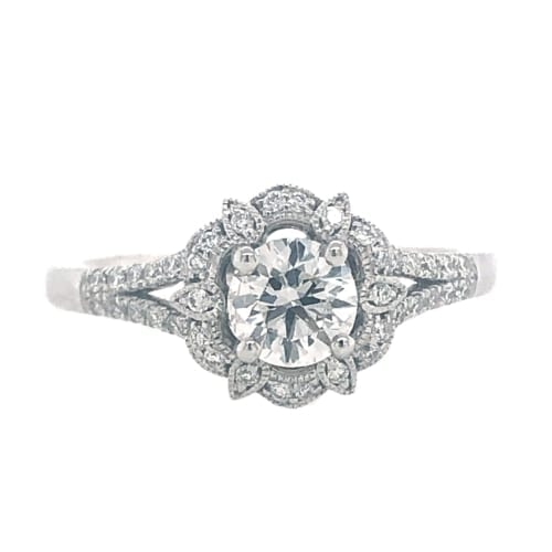 Diamond ring front