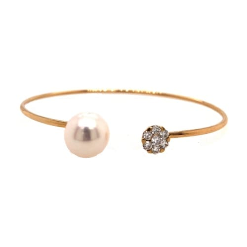 Pearl Bracelet – Flexible Bangle with 10 mm freshwater pearl