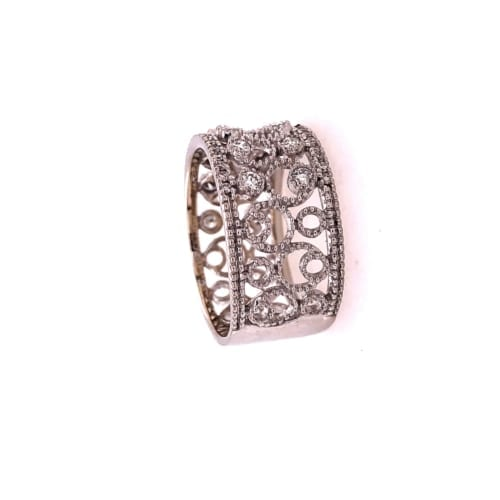 White gold diamond ring side