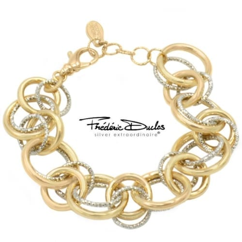 Silver & gold plated bracelet