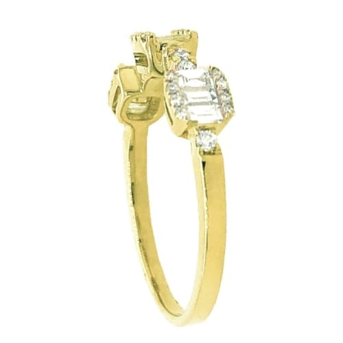 Bellarri Diamond ring yellow gold side
