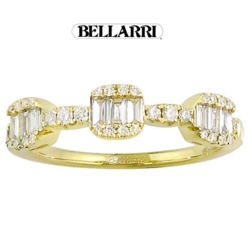 Bellarri Diamond ring front yellow gold