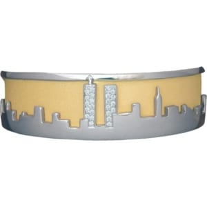 New York City Skyline Bracelet Exclusively Created by Gold In Art Jewelers