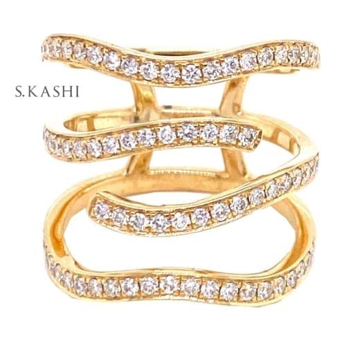 funky diamond ring