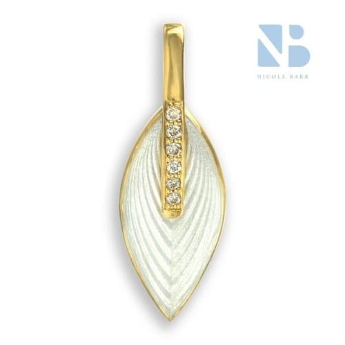 white marquise pendant