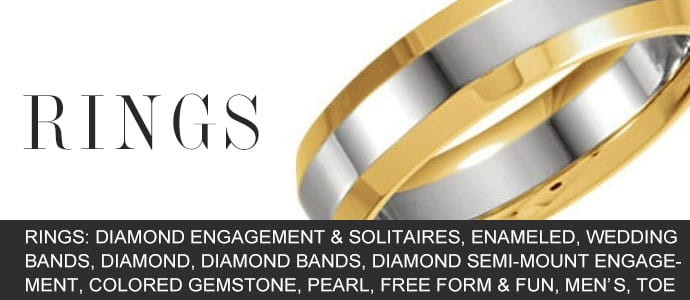 Rings: Diamond Engagement & Solitaires, Enameled, Wedding Bands, Diamond, Diamond Bands, Diamond Semi-Mount Engagement, Colored Gemstone, Pearl, Free Form & Fun, Men's, Toe